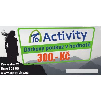 Dárkový poukaz ToActivity 300 Kč