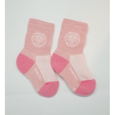 SURTEX DĚTSKÉ Ponožky 80% merino - volný lem sv.růžová