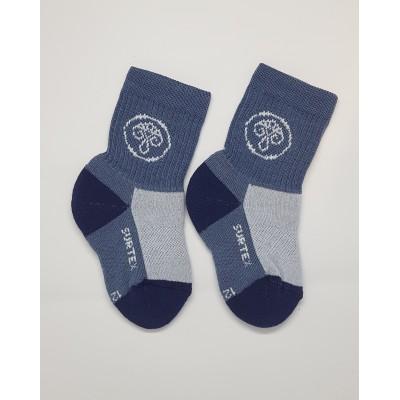 SURTEX DĚTSKÉ Ponožky 80% merino - volný lem modrošedá