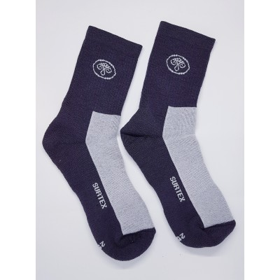 Ponožky SURTEX 80% merino - volný lem šedá