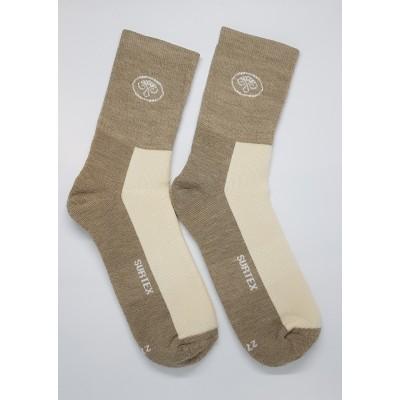 Ponožky SURTEX 80% merino - volný lem smetanová/béžová