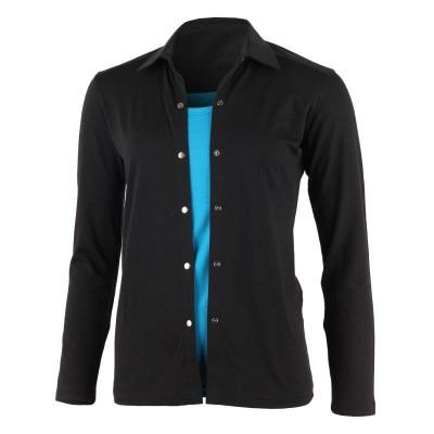 Lasting dámská 100% merino košile AMANDA 9090 černá