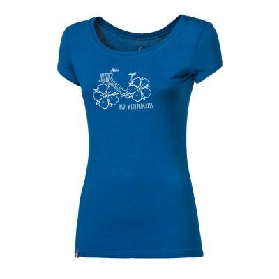 """PROGRESS LIBERTA """"FLOWBIKE"""" dámské triko s bambusem modrá"""