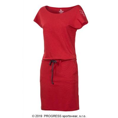 Progress MARTINA dámské sportovní šaty s bambusem červené