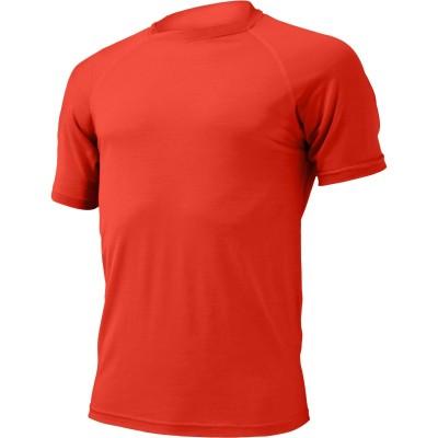 Lasting Pánské 100% merino triko QUIDO červená 3737