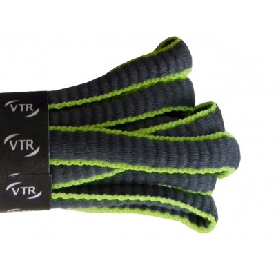 VTR Sportovní peckové tkaničky šedá/zelená