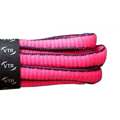 VTR Sportovní peckové tkaničky růžová/šedá