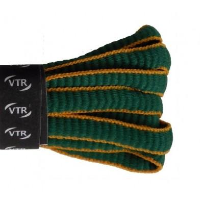 VTR Sportovní peckové tkaničky zelená/žlutá
