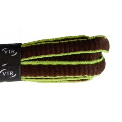 VTR Sportovní peckové tkaničky hnědá/žlutá