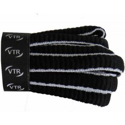 VTR Sportovní peckové tkaničky černá/bílá