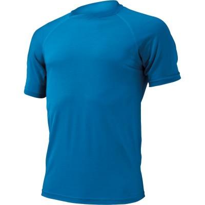Lasting Pánské 100% merino triko QUIDO Modrá 5151
