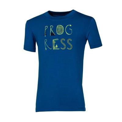 """Progress FRODO """"PROGRESS"""" dětské triko s bambusem modré"""