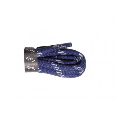 VTR Trekkingové tkaničky kulaté modro/bílá