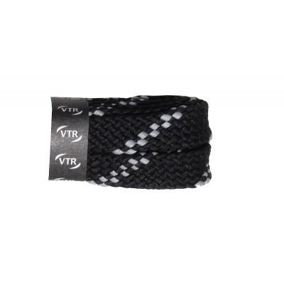 VTR Trekkingové tkaničky ploché černo/šedé