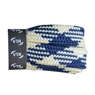 VTR Trekkingové tkaničky křížové ploché bílo/modré