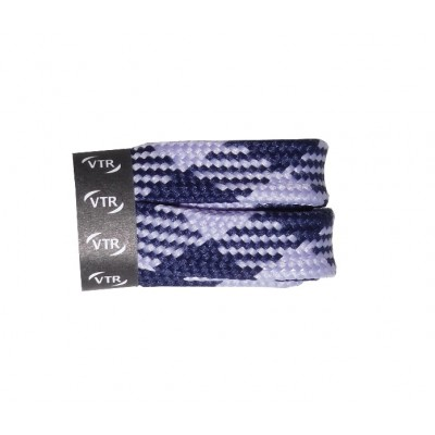 VTR Trekkingové tkaničky křížové ploché modro/fialové
