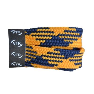 VTR Trekkingové tkaničky křížové ploché žluto/modré
