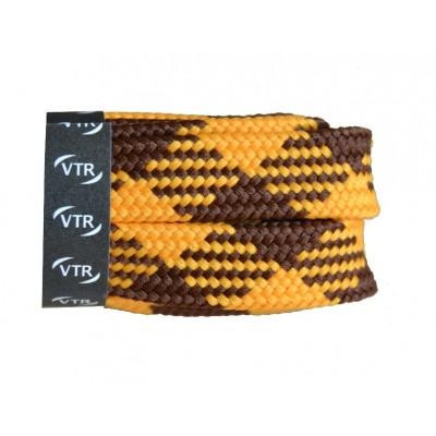 VTR Trekkingové tkaničky křížové ploché žluto/hnědé