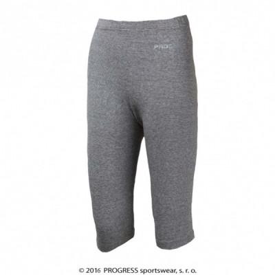 Progress Kalhoty 3/4 dětské Progress CHICO šedý melír