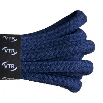 VTR Bavlněné kulaté tkaničky silné modrá