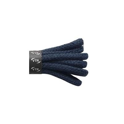 VTR Bavlněné kulaté tkaničky silné tmavě modrá
