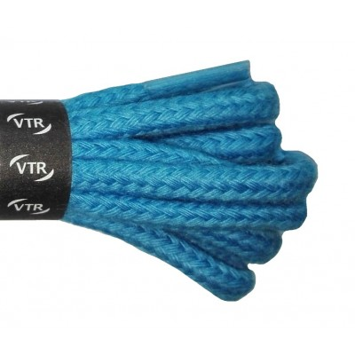 VTR Bavlněné kulaté tkaničky silné pastelově modrá