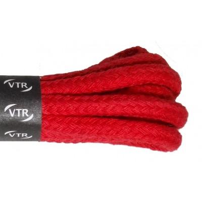 VTR Bavlněné kulaté tkaničky silné červená