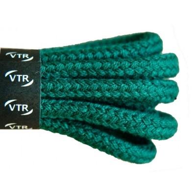 VTR Bavlněné kulaté tkaničky silné tmavě zelená