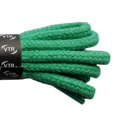 VTR Bavlněné kulaté tkaničky silné světle zelená