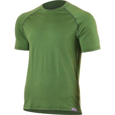 Lasting Pánské 100% merino triko QUIDO 6060 zelená
