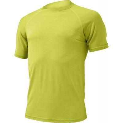 Lasting Pánské 100% merino triko QUIDO žlutá 6969