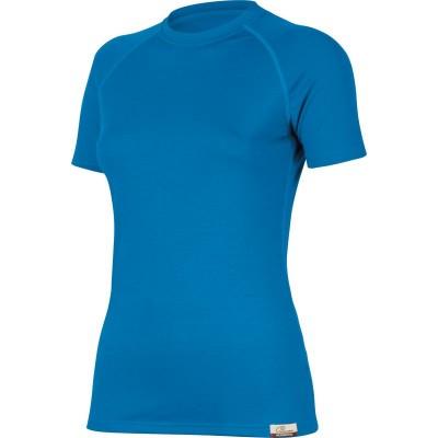 Lasting Dámské 100%merino tričko ALEA modrá 5151