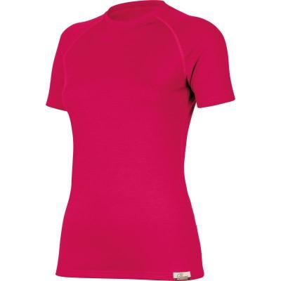 Lasting Dámské 100%merino tričko ALEA růžová 4747