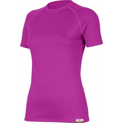 Lasting Dámské 100%merino tričko ALEA růžová 4848