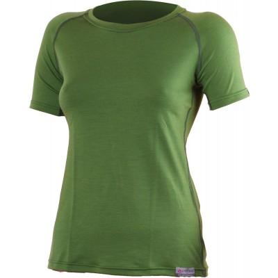 Lasting Dámské 100%merino tričko ALEA zelená 6060
