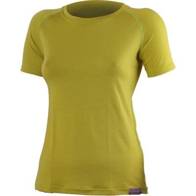 Lasting Dámské 100%merino tričko ALEA hořčicová 6464