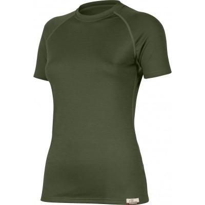 Lasting Dámské 100%merino tričko ALEA zelená 6262