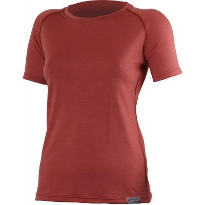 Lasting Dámské 100%merino tričko ALEA cihlová 7272