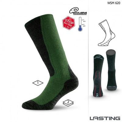 Merino ponožky WSM 620 zelená