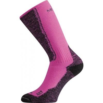 Merino ponožky WSM 489 růžová