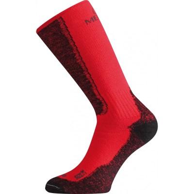 Merino ponožky WSM 389 červená