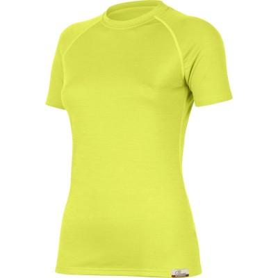 Lasting Dámské 100%merino tričko ALEA žlutá 6969