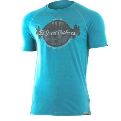 Lasting pánské merino triko s tiskem LUCAS 5858 modrá