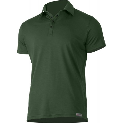 Lasting pánská 100% merino polo košile ELIOT 6262 zelená