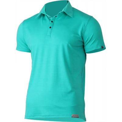 Lasting pánská 100% merino polo košile ELIOT 6565 modrá