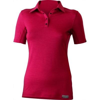 Lasting dámská 100% merino polo košile ALISA 4747 růžová