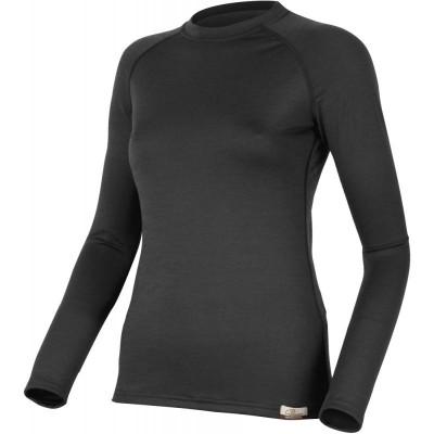 Lasting Dámské 100%merino tričko ATILA 9090 černá