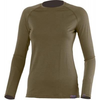 Lasting Dámské 100%merino tričko ATILA 6363 hnědá