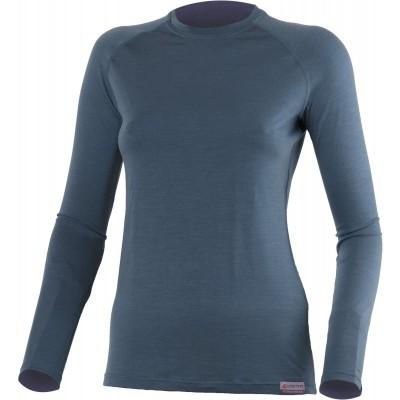 Lasting Dámské 100%merino tričko ATILA 5656 modrá