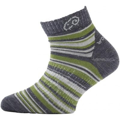Lasting dětské merino ponožky TJP 508 zelené